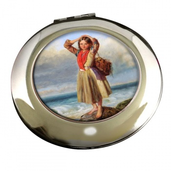 The Mussel Gatherer by Pelham Round Mirror