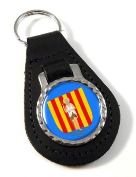 Perpignan (France) Leather Key Fob