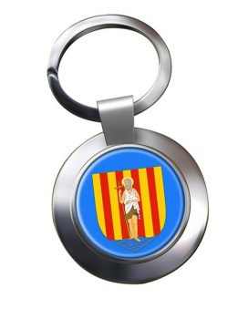 Perpignan (France) Metal Key Ring