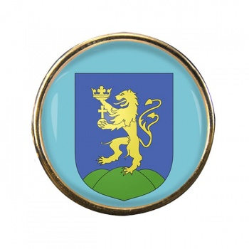Pest Round Pin Badge