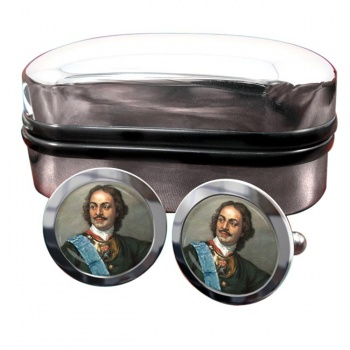 Peter the Great Round Cufflinks