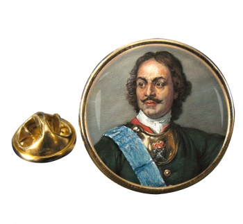 Peter the Great Round Pin Badge