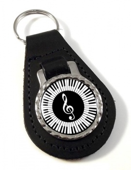 Piano Leather Key Fob