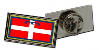 Piedmont Piemonte (Italy) Flag Pin Badge