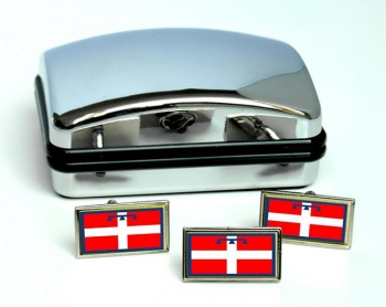 Piedmont Piemonte (Italy) Flag Cufflink and Tie Pin Set
