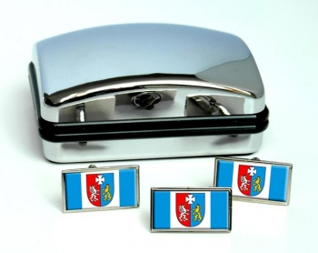 Podkarpackie (Poland) Flag Cufflink and Tie Pin Set
