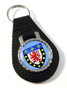 Poitiers (France) Leather Key Fob