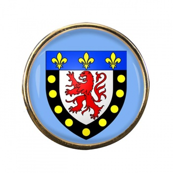 Poitiers (France) Round Pin Badge