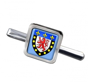 Poitiers (France) Square Tie Clip