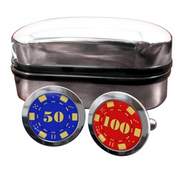 Poker Chips Round Cufflinks