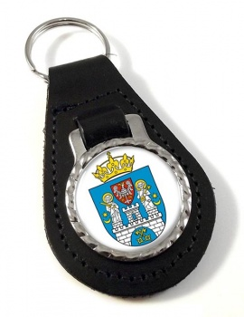 Poznan (Poland) Leather Key Fob