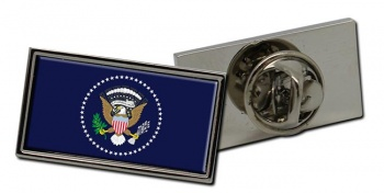 President Of The United States Of America Rectangle Tie Pin