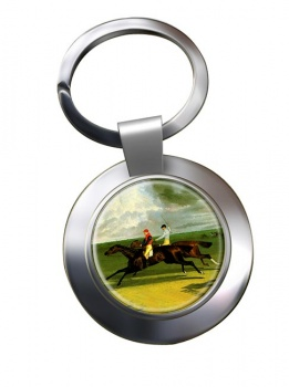 Racehorse Priam by Herring Chrome Key Ring