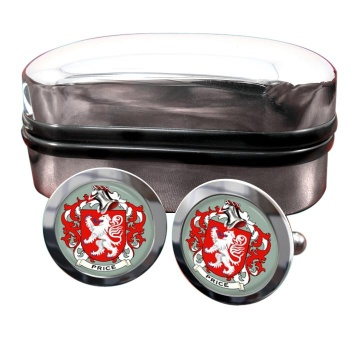 Price Coat of Arms Round Cufflinks