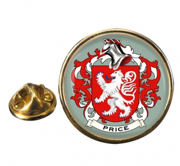 Price Coat of Arms Round Pin Badge
