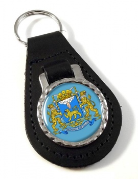 Pskov Oblast Leather Key Fob
