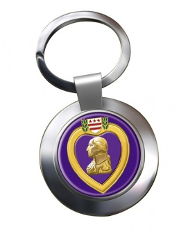 Purple Heart Chrome Key Ring