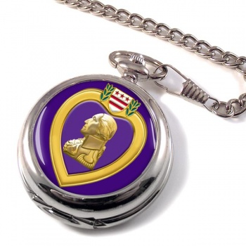 Purple Heart Pocket Watch