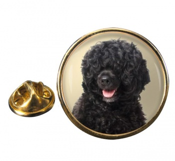 Portuguese Water Dog Round Pin Badge