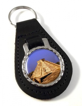 Pyramid Mexico Leather Key Fob