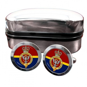 Queen's Own Mercian Yeomanry Round Cufflinks