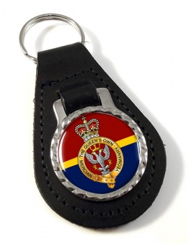 Queen's Own Mercian Yeomanry Leather Key Fob