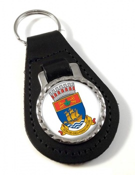 Quebec City (Canada) Leather Key Fob