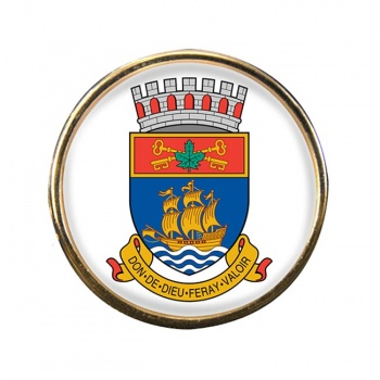 Quebec City (Canada) Round Pin Badge