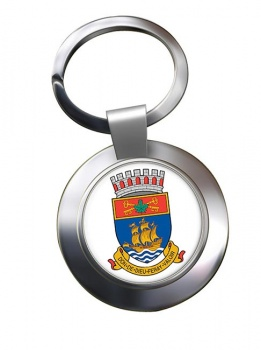 Quebec City (Canada) Metal Key Ring