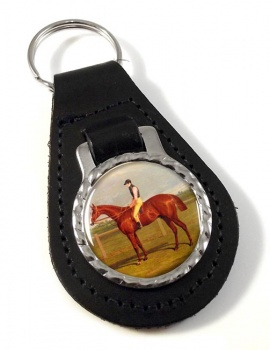 Racehorse by Herring Leather Key Fob