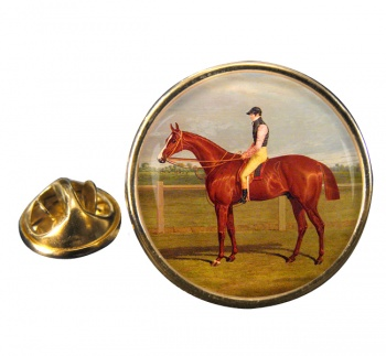 Racehorse by Herring Round Pin Badge