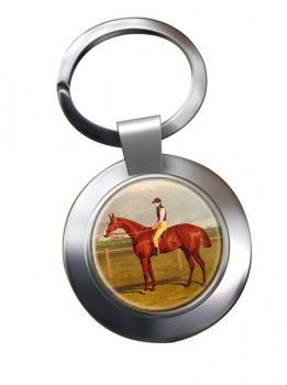 Racehorse by Herring Chrome Key Ring