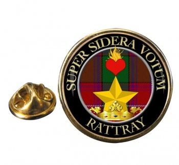 Rattray Scottish Clan Round Pin Badge