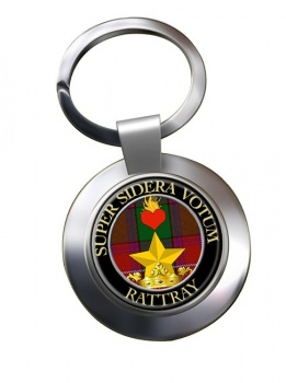 Rattray Scottish Clan Chrome Key Ring