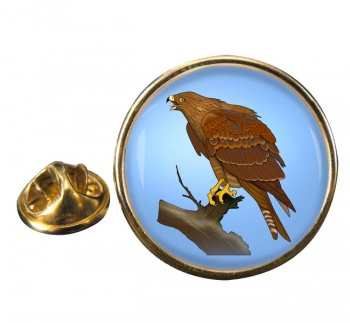 Red Kite Round Pin Badge