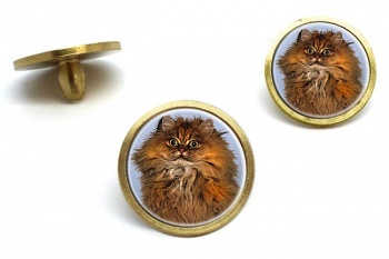Red Persian Cat  Golf Ball Marker Set