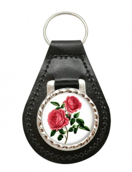 Roses Leather Key Fob