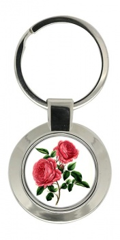 Roses Chrome Key Ring