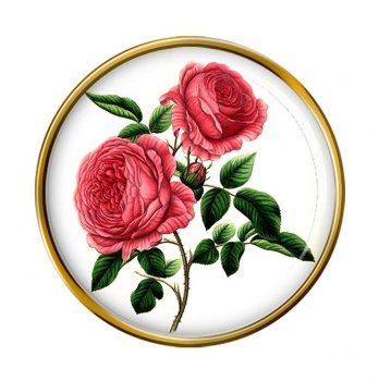 Roses Round Pin Badge