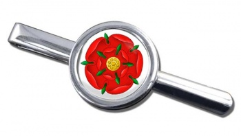 Red Rose of Lancaster Round Tie Clip