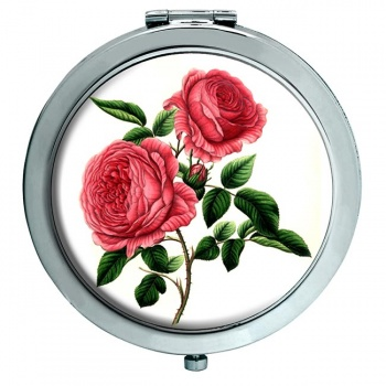 Roses Chrome Mirror