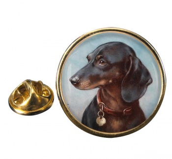 Dachshund by Carl Reichert Round Pin Badge