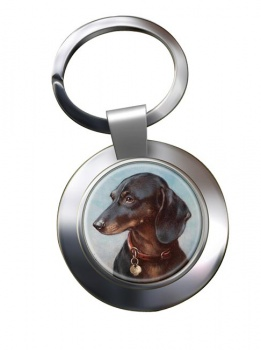 Dachshund by Carl Reichert Metal Key Ring