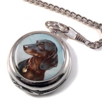 Dachshund by Carl Reichert Pocket Watch