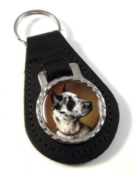 Deutsche Dogge by Carl Reichert Leather Key Fob