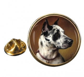 Deutsche Dogge by Carl Reichert Round Pin Badge