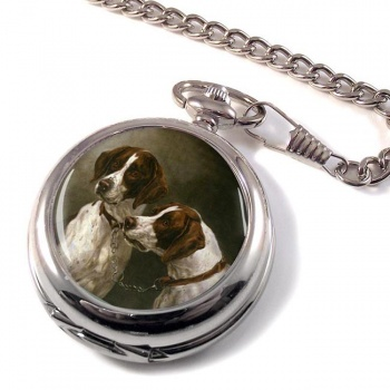 Pair of German Pointers by arl Reichert Pocket Watch