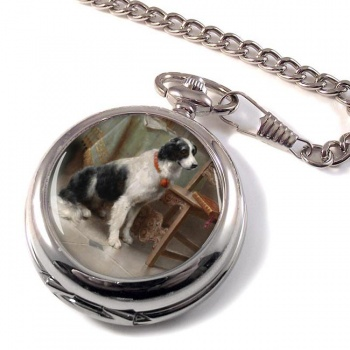 Der Liebling (dog) by Carl Reichert Pocket Watch