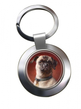 The Pug Dog by Carl Reichert Metal Key Ring