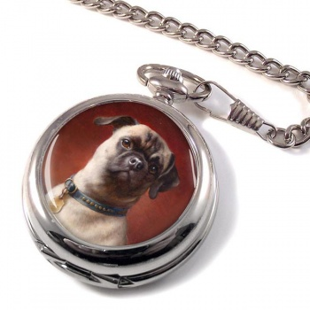 The Pug Dog by Carl Reichert Pocket Watch